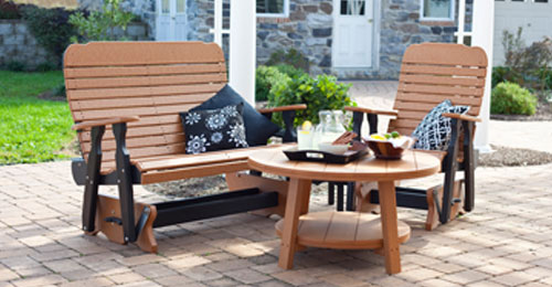 Leisure Lawns Collection Is A Line Of Outdoor Furniture In Wood And Poly.    Scarborough Fair A Unique Store On The Shore.
